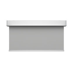 Closed cassette, motor-operated - anodized aluminium | Elektrozugsysteme | Kvadrat Shade