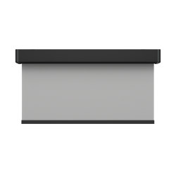 Closed cassette, motor-operated - powder coated black | Elektrozugsysteme | Kvadrat Shade