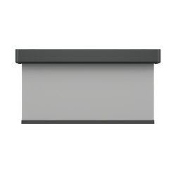 Closed cassette, motor-operated - powder coated RAL 7043 | Elektrozugsysteme | Kvadrat Shade