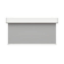 Closed cassette, motor-operated - powder coated RAL 9003 | Elektrozugsysteme | Kvadrat Shade