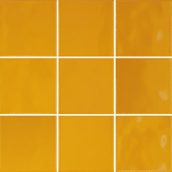 Retromix 10x10 Retromix Tile Amber Yellow Glossy | Keramik Fliesen | VitrA Bathrooms