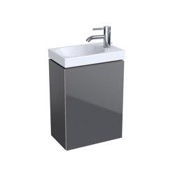 Acanto | handrinse basin cabinet lava matt | Vanity units | Geberit