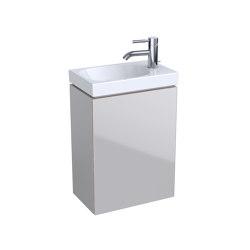 Acanto | handrinse basin cabinet sand grey | Vanity units | Geberit