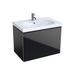 Acanto | washbasin cabinet black | Vanity units | Geberit