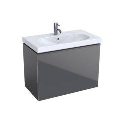 Acanto | washbasin cabinet lava matt | Vanity units | Geberit