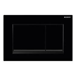 Actuator plates   Sigma30 black, tone-in-tone   Flushes   Geberit