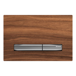 Actuator plates | Sigma50 black walnut, chrome-plated | Flushes | Geberit