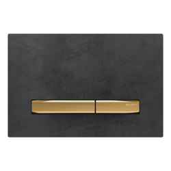 Actuator plates | Sigma50 mustang slate, brass | Flushes | Geberit