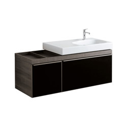 Citterio | washbasin cabinet with two drawers black | Vanity units | Geberit