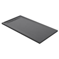 Floor-even shower solutions | shower surface Sestra graphite | Shower trays | Geberit