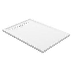 Floor-even shower solutions | shower surface Sestra white | Shower trays | Geberit