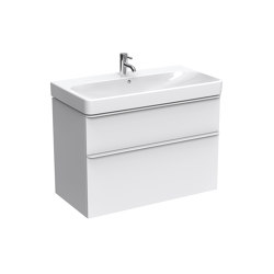 Smyle | washbasin cabinet white | Vanity units | Geberit