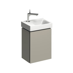 Xeno² | cabinet for handrinse basin greige | Vanity units | Geberit