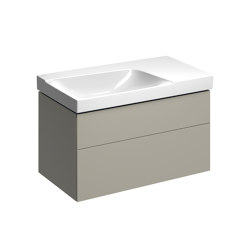 Xeno² | washbasin cabinet with two drawers greige | Vanity units | Geberit