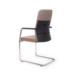 agilis matrix FA | Cantilever with integrated armrests | medium high with extension | Chairs | lento