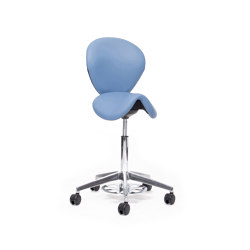 sella | Saddle chair with backrest and foot release | Taburetes de oficina | lento