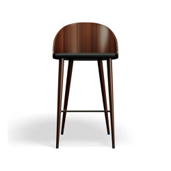 ME Bar Chair - Walnut/Black | Bar stools | Askman Design