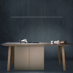next125 cooking table Sand grey matt velvet | Island kitchens | next125