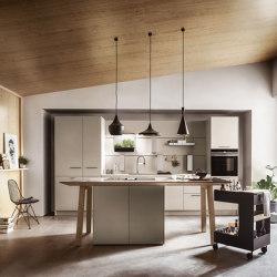 NX 510 grigio sabbia opaco satinato | Cucine parete | next125