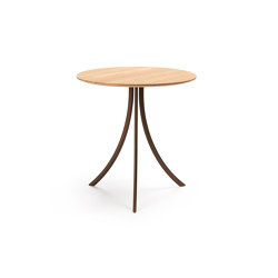 Bistro outdoor Dining table stand with round top | Bistro tables | Expormim