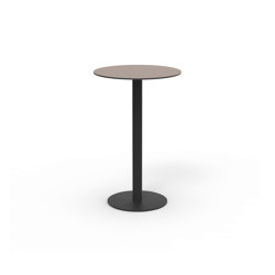 Flamingo outdoor High dining table stand with round top | Tavoli pranzo | Expormim