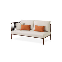 Nido Hand-woven left side module | Divani | Expormim