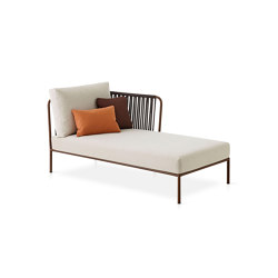 Nido Hand-woven right chaise longue module | Chaise longues | Expormim