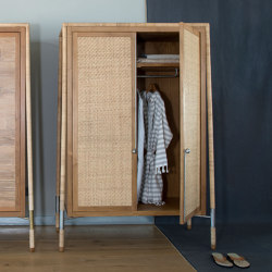 Flamingo Cabinet - bamboo/teak   Cabinets   MARY&