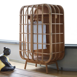 Milano Cage Cabinet - teak | Cabinets | MARY&