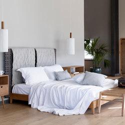 Minerva Bedroom with straps - teak | Beds | MARY&