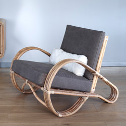 Rattan Carla Lounge Chair - natural | Armchairs | MARY&