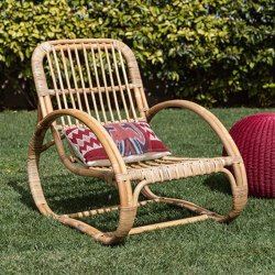 Rattan Carlo Lounge Chair - natural | Armchairs | MARY&