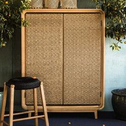 Slim Cabinet - teak/cord | Cabinets | MARY&