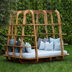 Milano Cage Daybed - teak | Day beds / Lounger | MARY&
