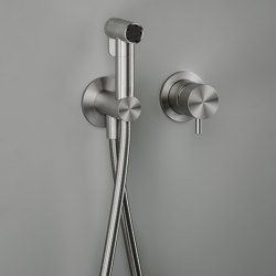 Complements | Hygienic shower, wall bracket and water connection | Shower controls | Quadrodesign