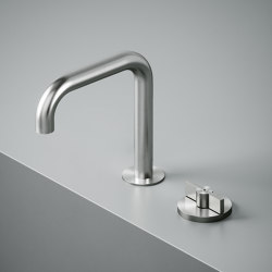 Valvola01 | Two-hole hydroprogressive mixer with swivelling spout | Bath taps | Quadrodesign