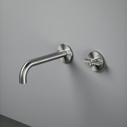 Valvola01 | Wall mounted hydroprogressive mixer with spout | Bath taps | Quadrodesign