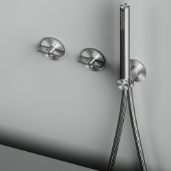 Valvola01 | Hydroprogressive mixer set for bath/shower with hand shower | Shower controls | Quadrodesign