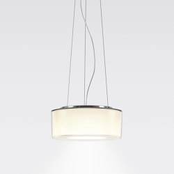 CURLING Suspension Rope | shade acrylic glass, reflector cylindrical opal | Suspensions | serien.lighting