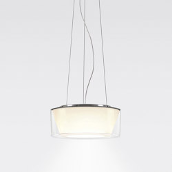 CURLING Suspension Rope | shade acrylic glass, reflector conical opal | Suspensions | serien.lighting