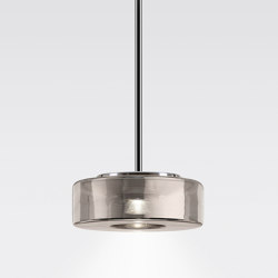 CURLING Suspension Tube | shade glass new silver | Suspensions | serien.lighting