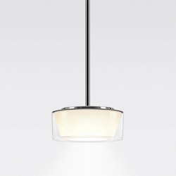 CURLING Suspension Tube | shade acrylic glass, reflector conical opal | Suspensions | serien.lighting