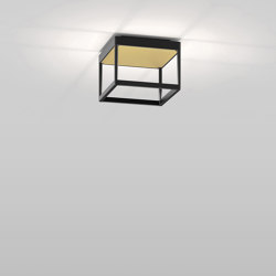 REFLEX² S 150 black | pyramid structure gold | Ceiling lights | serien.lighting