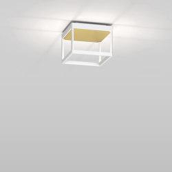REFLEX² S 150 white | pyramid structure gold | Plafonniers | serien.lighting