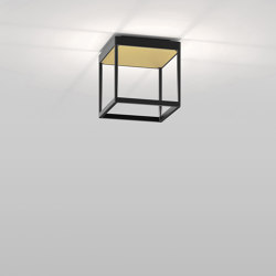 REFLEX² S 200 black | pyramid structure gold | Ceiling lights | serien.lighting