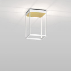 REFLEX² S 300 white | pyramid structure gold | Plafonniers | serien.lighting
