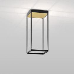 REFLEX² S 450 black   pyramid structure gold   Plafonniers   serien.lighting