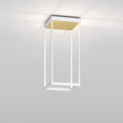REFLEX² S 450 weiß   Pyramidenstruktur gold   Deckenleuchten   serien.lighting
