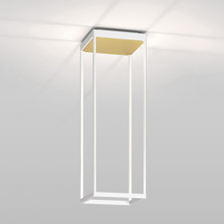 REFLEX² S 600 white | pyramid structure gold | Ceiling lights | serien.lighting