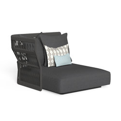 Cliff | Sofa lounge xl dx backrest rope | Modular seating elements | Talenti
